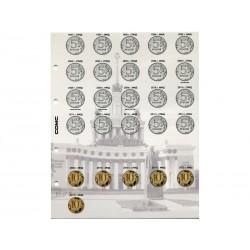 Комплект разделителей для коллекции разменных монет России с 1997 г. с листами для монет