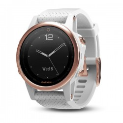 Спортивные часы FENIX 5S SAPPHIRE розовое золото с белым браслетом