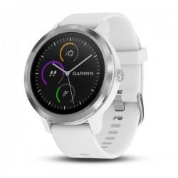 Спортивные часы VIVOACTIVE 3 серебристые с белым ремешком