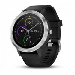 Спортивные часы VIVOACTIVE 3 серебристые с черным ремешком