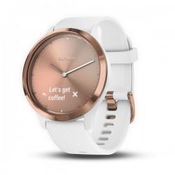 Спортивные часы VIVOMOVE HR розовое золото с белым ремешком